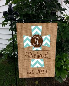 Bon Personalized Garden Flag Family Name Monogrammed By MonogramFrenzy