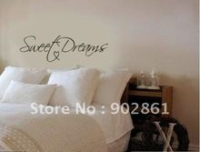 """Funlife Modern Wall Sticker-22""""x8"""" Sweet Dreams Vinyl Art Mural Wall Quote Saying decals L2012354(China (Mainland))"""