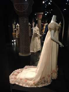 """""""1812 Wedding dress of a Dutch Baroness. On exhibit in the Rijksmuseum in Amsterdam. Restored by me in 1996."""""""