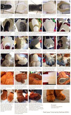 Feet paw Tutorial (english version) by Sethaa