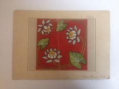 Antique Lotus Lilypad Woolwork Pattern by Bruno Borner in Berlin | eBay