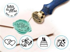 Customizable Wedding Design  Wax Seal Stamp