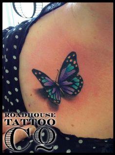 Pretty Tattoos, Cute Tattoos, Beautiful Tattoos, Leg Tattoos, Body Art Tattoos, Small Tattoos, Tattos, Butterfly Name Tattoo, Butterfly Tattoo On Shoulder