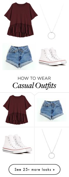 """""""Casual Chic"""" by julieannr1202 on Polyvore featuring Converse and Roberto Coin"""