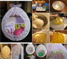 Great alternative to my ever growing pile of Easter baskets. So beautiful!!