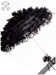 Black Dust gothic lace parasol