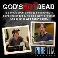 God's Not Dead Movie!!!! I can not wait to see this!!! I am looking forward to seeing Shane Harper act! :)