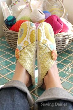 SEW Hip! Slouch Slippers ~ These would make great gifts in a fun novelty print! The possibilities are endless with thousands of fabrics to choose from at the Fabric Shack at http://www.fabricshack.com/cgi-bin/Store/store.cgi