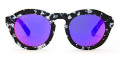 DIME - BLACK / WHITE FRAME - PURPLE MIRROR LENS | DIFF Eyewear