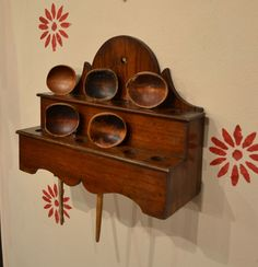 Another beautiful Welsh spoon rack with cawl spoons.....Tim Bowen Antiques, Ferryside, Carmarthenshire. Wales.