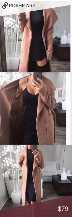 """Tan Sunkissed Maxi Coat BRAND NEW ✨ I'm selling this beautiful tan maxi coat from @itselaine closet I love this coat the only problem is its way to long im 4""""11 so it goes almost to my feet. Just to long for my liking so I will like to atleast make some of what I spent back.  I'm normally a medium so it will fit a medium size person plus they can wear a sweater and it could fit a person that wear a size large just fine as well. MEASUREMENTS : (L) 22"""" Pit to Pit  45""""Length 16"""" Shoulder to…"""