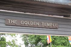 Entrance of the Golden temple where people pass through to worship Lord Buddha at one of the Island's oldest shrine.