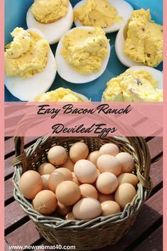 These Easy Bacon Ranch Deviled Eggs are delicious and perfect to make with this simple recipe. Great for potluck, holidays, snacks, side dish, and diets. We love these flavorful deviled eggs! Spicy Appetizers, Deviled Eggs Recipe, Quick Snacks, Side Dishes Easy, Egg Recipes, Bacon, Easy Meals, Ranch, Eat