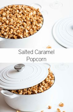 Easy Salted Caramel Popcorn RecipesFlavored PopcornSnack Recipes BarDessert RecipesBirthday Cake