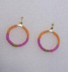 Beaded Hoop Earrings With Preciosa Czech from TheBeadedDiamond