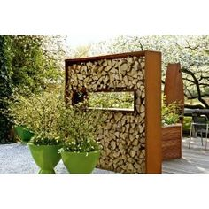Free standing wood wall