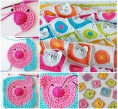 Teddy Bear Granny Square Blanket Free Crochet