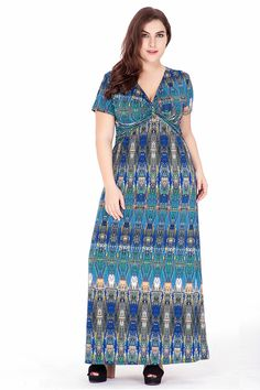 b6157d6fa9cd Plus Size Dress XL 6XL Robe Femme Women Short Sleeve Dress High Waist  Paisley Desigual Maxi Bohemian Beach Summer Long Dress-in Underwear from  Mother   Kids ...