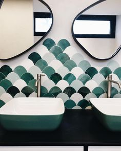 Bathroom Mirror Inspiration, Bathroom Showrooms, Green Colour Palette, Best Interior, Architecture Details, Small Bathroom, Home And Living, Sweet Home, New Homes