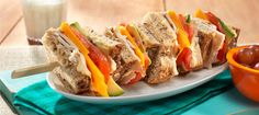 BBQ Turkey Sandwich Skewers, just the presentation
