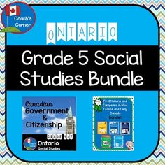 Ontario Grade 5 Social Studies MEGA-BUNDLE: Canadian Government & Citizenship AND First Nations & Europeans in New France and Early Canada social studies Ontario Grade 5 Social Studies Mega-Bundle Ontario Curriculum, Social Studies Curriculum, Social Studies Lesson Plans, 4th Grade Social Studies, Teacher Lesson Plans, Social Studies Activities, Teaching Social Studies, Canadian Social Studies, Online Middle School