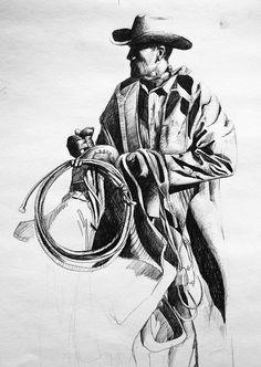 Cigarette - Cigar - Cigarillo - Smoking and shit Horse Drawings, Art Drawings, Pencil Drawings, Cowboy Art, Cowboy And Cowgirl, Tribal Hand Tattoos, Native American Drawing, Westerns, Cowboys And Angels