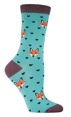 Fox Lover Fun Bamboo Novelty Socks for Women - This website has loads of fun socks! I love the Fox Socks the best.
