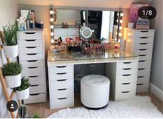 🖤🖤😘😘😍😍😍😍😍😍 - walk in wardrobe ideas 🖤🖤😘😘😍😍😍😍😍😍 – walk in wardrobe ideas – Bedroom Decor For Teen Girls, Girl Bedroom Designs, Teen Room Decor, Room Ideas Bedroom, Vanity Makeup Rooms, Vanity Room, Beauty Room Decor, Makeup Room Decor, Vanity Design