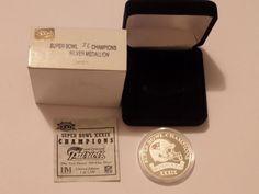 .999 Fine Silver New England Patriots Super Bowl Champions 39 XXXIX Coin 1 Ounce