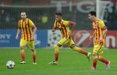 Tripleta brava esta del Barcelona: Andrés Iniesta, Neymar da Silva Santos Júnior, Lionel Messi.