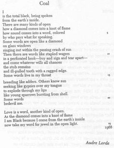 """Audre Lorde Poems 