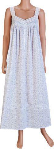 Eileen West Cotton Nightgown in Lavender Field