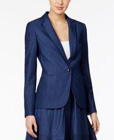 Tommy Hilfiger Denim Blazer, Women's, Size: 14, Blue