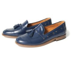 Tyska blue leather shoes by Hudson.