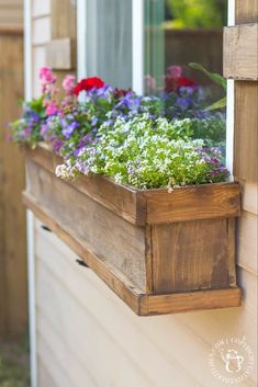DIY Window Box and Shutters Looking to dress up a plain exterior window? It doesn't get any cheaper, easier, or more flexible than this plan for a DIY Window Box and Shutters! Window Box and Shutters Looking to dress up a plain exterior window? It doesn't Window Shutters Exterior, Diy Shutters, Diy Exterior, Cedar Shutters, Diy Planter Box, Diy Planters, Garden Planters, Box Garden, Long Planter Boxes