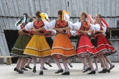 Dancers of folklore ensemble Karpaty wearing traditional clothes from eastern Slovakia. Folk Costume, Costumes, Bunny Suit, Shall We Dance, Baby Bunnies, Dance The Night Away, Ancient Art, Kids Wear, Traditional Outfits