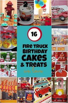 fire truck birthday cakes www.spaceshipsandlaserbeams.com