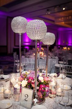 Wedding Planning: Peacock Premier Events  Photography: NEOART  Lighting: Rays Of Light  Florist: Boca By Design  Linens: Over The Top Inc.  Chargers & Chairs: Atlas Party Rentals