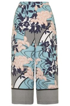 Japanese Floral Border Print Culottes - Going Out - Clothing - Topshop