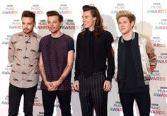 One Direction on the red carpet at the BBC Music Awards in Birmingham - 12/10/15