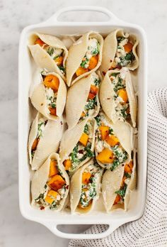 Vegan Butternut Squash Stuffed Shells//