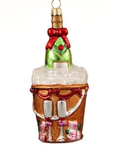 Buy Champagne Bucket - Anniversary Christmas Ornaments, Wedding Christmas Ornaments, Engagement Christmas Ornaments at the Ornament Shop. Over 4500+ items.