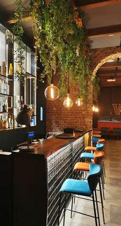 Home Decoration Cheap Ideas Lounge Design, Bar Lounge, Küchen Design, Coffee Shop Interior Design, Coffee Shop Design, Restaurant Interior Design, Bar Deco, Deco Restaurant, Modern Restaurant