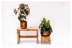 Stuhl / Beistelltisch von Kentholz auf DaWanda.com