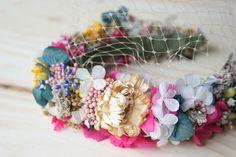 DEF Deco - Decorar en familia: Diy diadema de flores preservadas y secas1