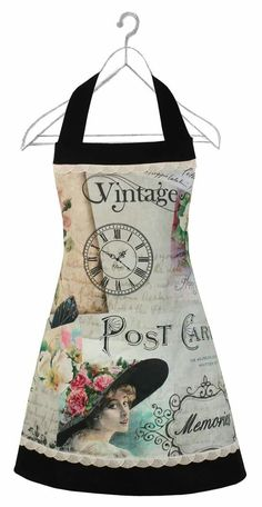 Retro Apron, Aprons Vintage, Bib Apron, Apron Dress, Sewing Crafts, Sewing Projects, Childrens Aprons, Cool Aprons, Sewing To Sell