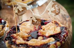 Wedding pie and happily ever after topper