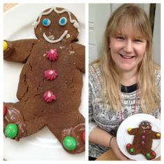 Lucy White showing off her fabulous gingerbread man