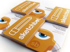 Sketchbot Biz Card V2 (Steve Talkowski, Character Design and 3D animation)