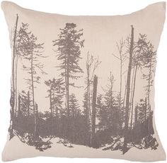 Trees in Forest Pillow - Surya - $28.00 - domino.com